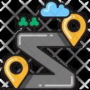 Sharp Bend Sharp Turn Road Navigation Icon