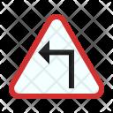 Sharp Left Turn Icon