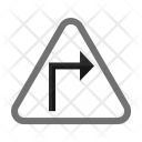 Sharp Right Turn Icon