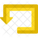 Directional Pointing Road Sign Icon