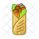 Shaurma Food Meal Icon