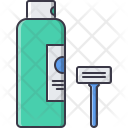Shaving Cream Razor Icon