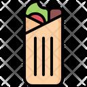 Shawarma Roll Fast Icon