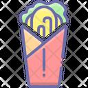 Shawarma Burger Roll Icon