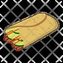 Shawarma Roll Fastfood Icon