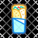 Shawarma Burrito Chimichanga Icon