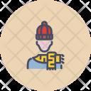 Shawl Knitted Warm Icon