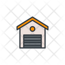 Shed Warehouse Storage Icon