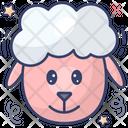 Sheep Face Farm Animal Cattle Icon