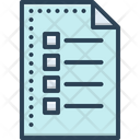 Sheet List Catalog Icon