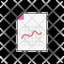 Report Sheet Diagram Icon