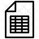 Sheet file Icon