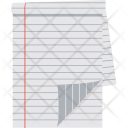 Sheet Paper Stationery Icon