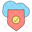 Cloud Sheild Protection Icon
