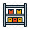 Shelf Boxes Icon