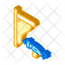 Shelf Nailing Isometric Icon
