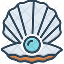Shell Pearl Scallop Icon