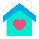 Home House Heart Icon