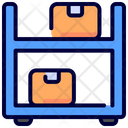 Shelves Warehouse Boxes Icon
