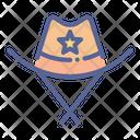 Cowboy Police Hat Icon