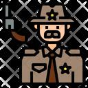 Isheriff Sheriff Officer Icon