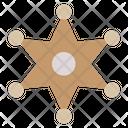 Sheriff Sheriff Badge Cultures Icon