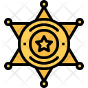 Sheriff Badge Star Icon