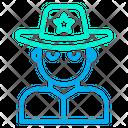 Police Guard Cowboy Icon