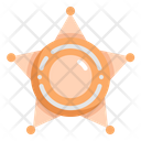 Sheriff Star Police Icon