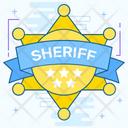 Sheriff Badge Icon