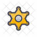 Sheriff Badge Star Medal Star Pendant Icon