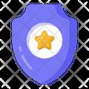 Star Shield Protective Shield Sheriff Badge Icon
