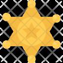 Sheriffs Badge Bandit Icon