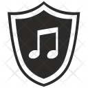 Shield Music Protection Icon