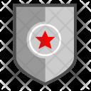 Shield Army Metal Icon