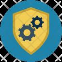 Shield Cog Cogwheel Icon