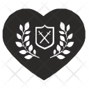 Shield Sword Laurel Icon