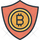 Bitcoin Shield Safe Icon