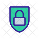 Lock Shield Cipher Icon