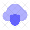 Shield Protected Cloud Shield Cloud Icon