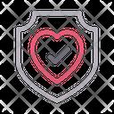 Shield Health Life Icon