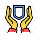 Hand Hold Shield Icon