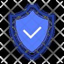 Shield Tick Check Icon