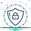 Shield Protected Lock Icon