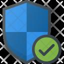 Shield Firewall Check Icon