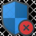 Shield Firewall Error Icon