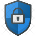 Shield Firewall Lock Icon
