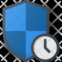 Shield Firewall Time Icon