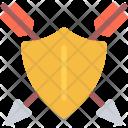 Shield Arrow Sword Icon