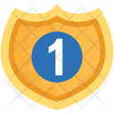 Golden Shield Crest Icon